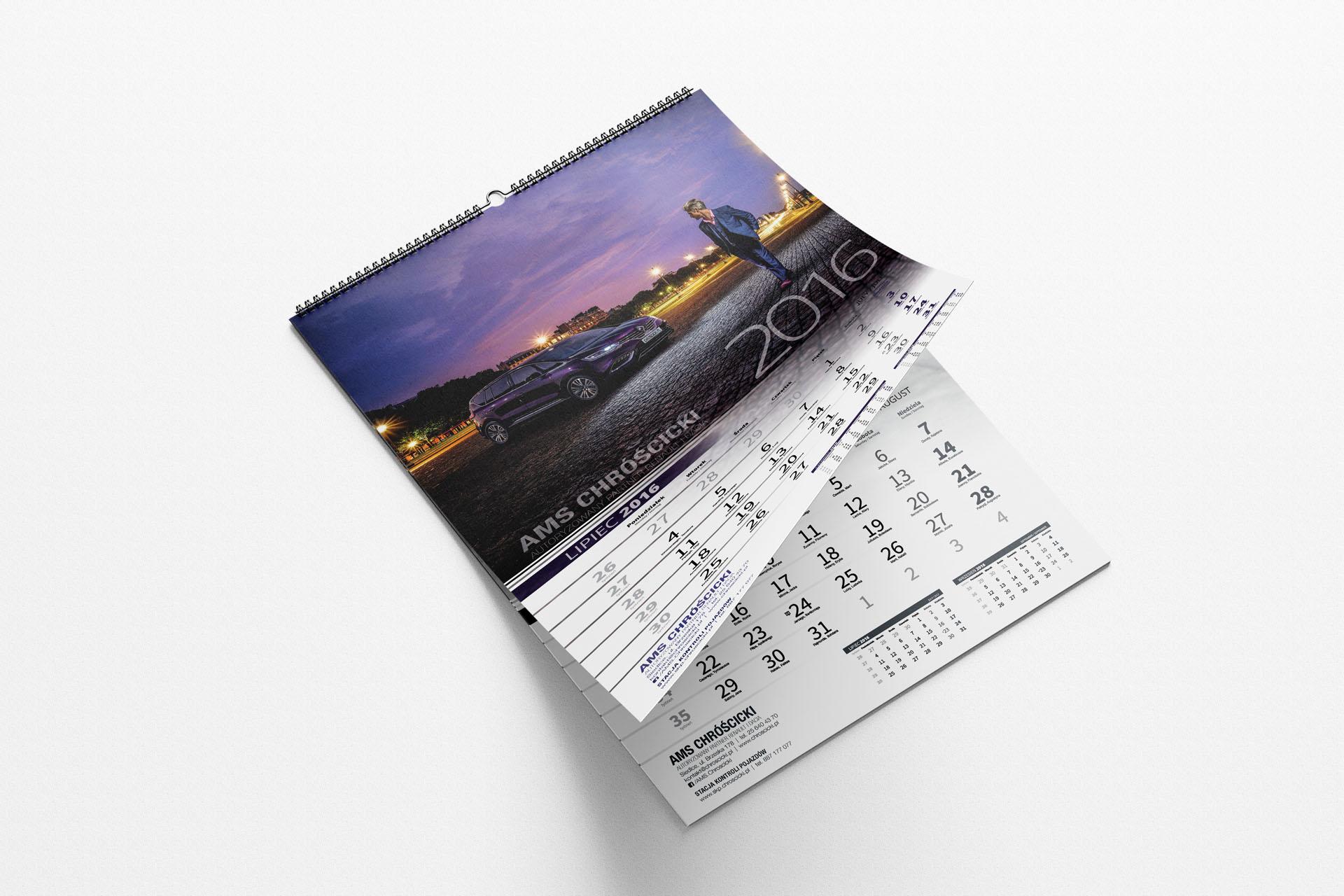 AMS Chróścicki  – Kalendarz ścienny spiralowany  2016