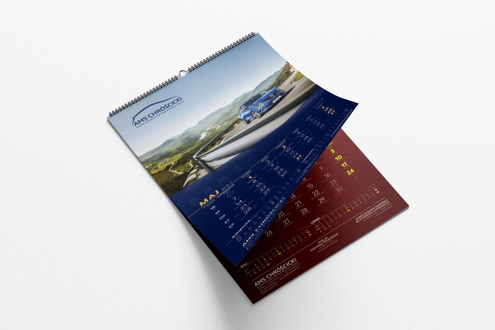 AMS Chróścicki  – Kalendarz ścienny spiralowany  2021