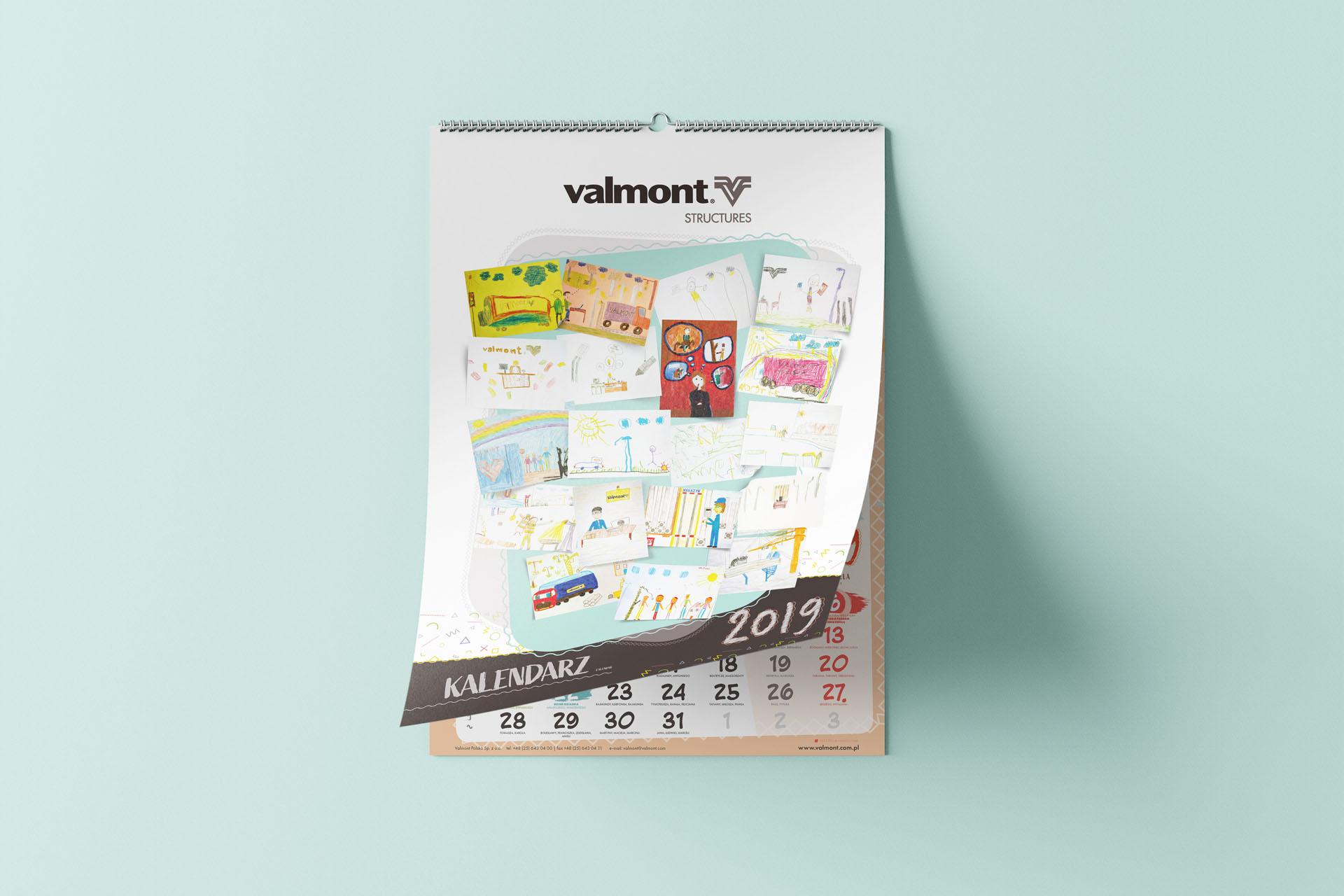 Valmont  – Kalendarz ścienny spiralowany  2019
