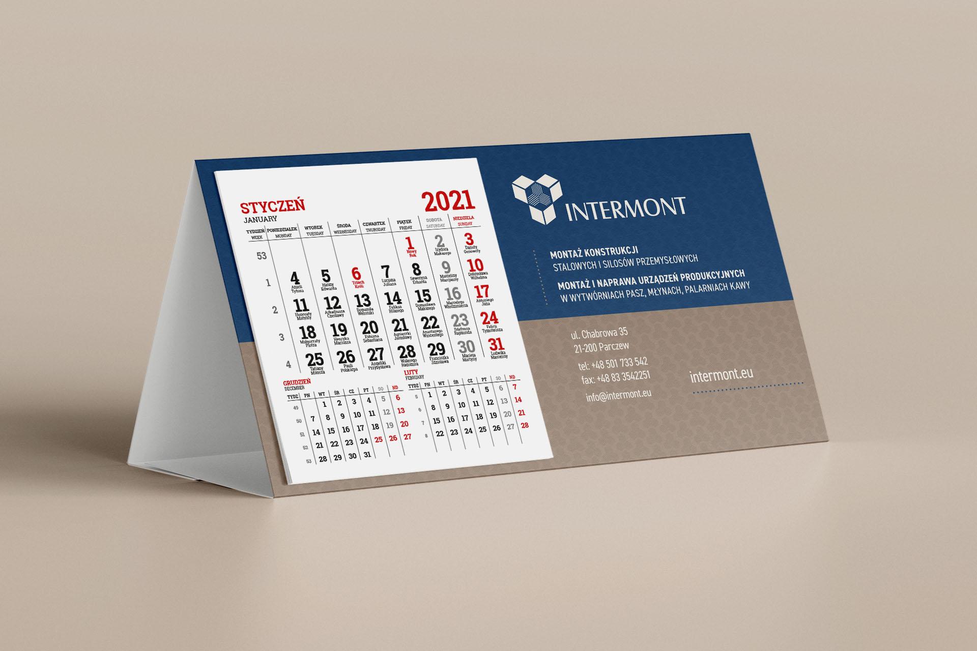 Intermont – Kalendarz biurkowy 2021