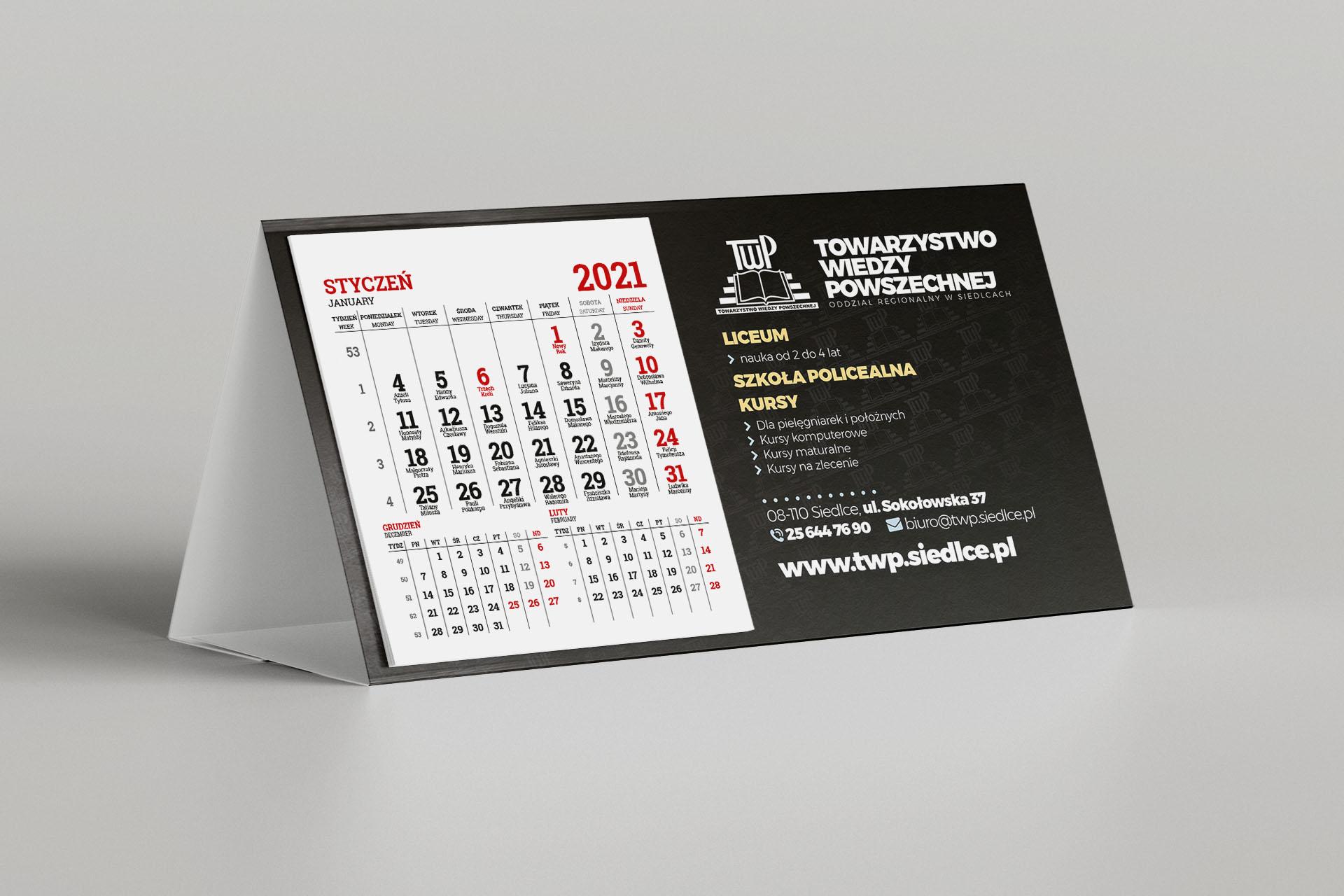 Towarzystwo Wiedzy Powszechnej – Kalendarz biurkowy 2021