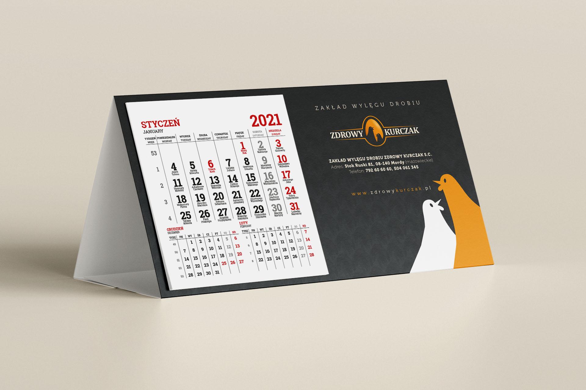 Zdrowy Kurczak - Kalendarz biurkowy 2021
