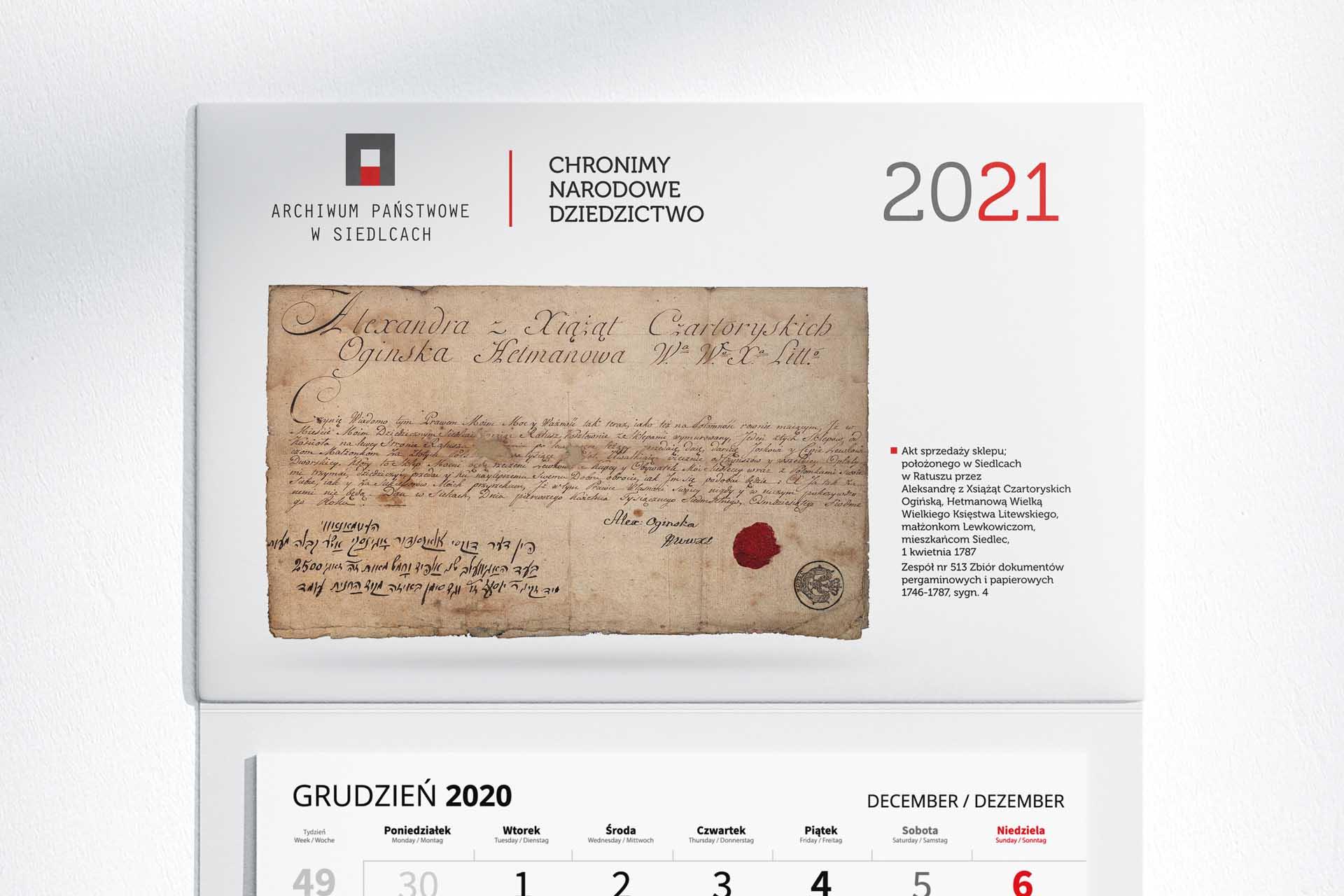 Kalendarz - Archiwum - 2021