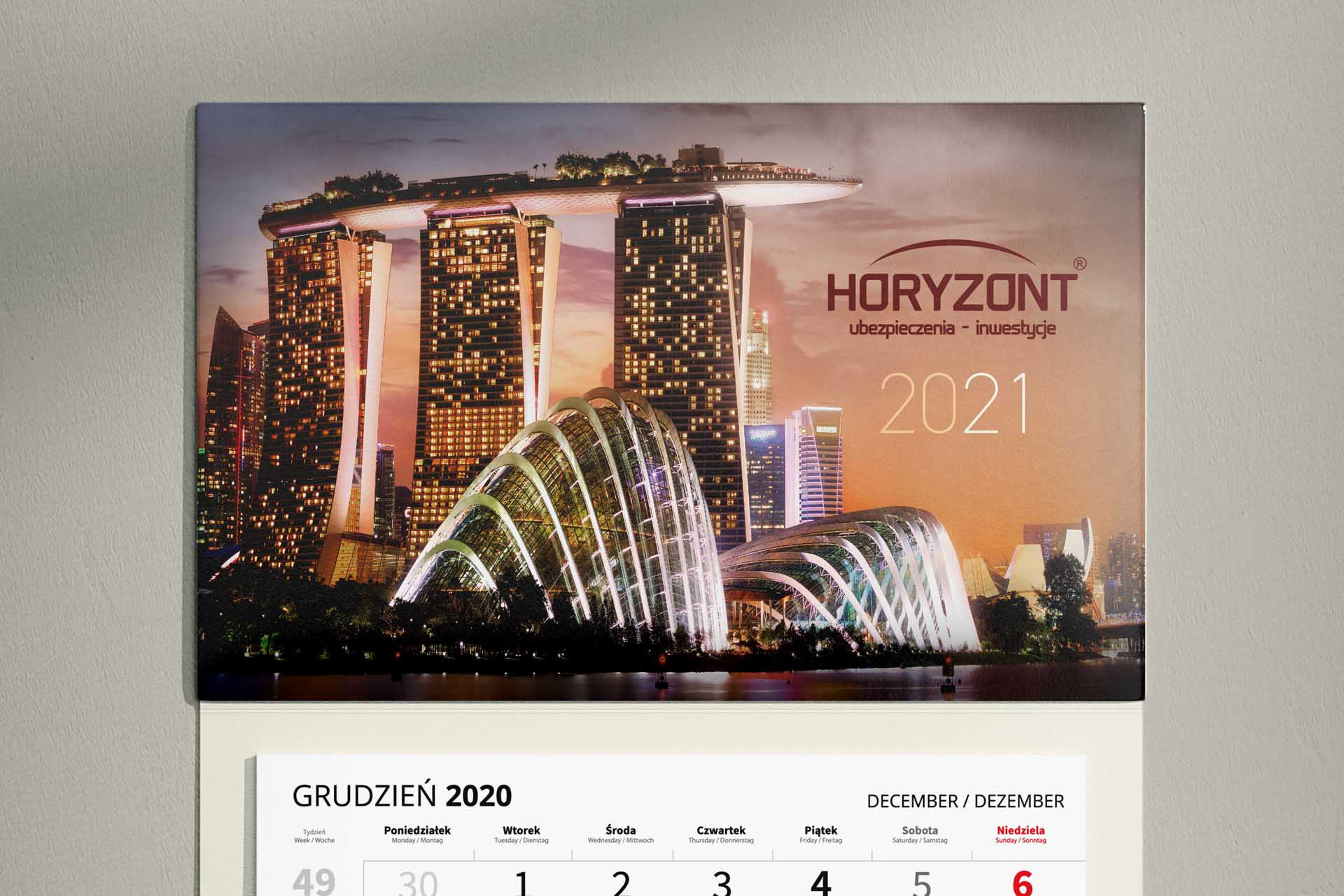 Horyzont - Kalendarz 3-dzielny 2021