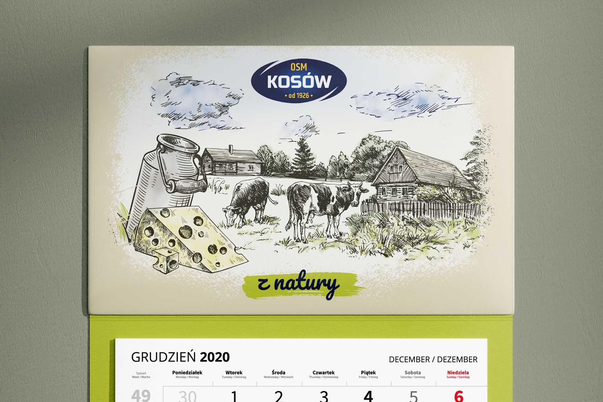 OSM Kosów Lacki- Kalendarz 3-dzielny 2021
