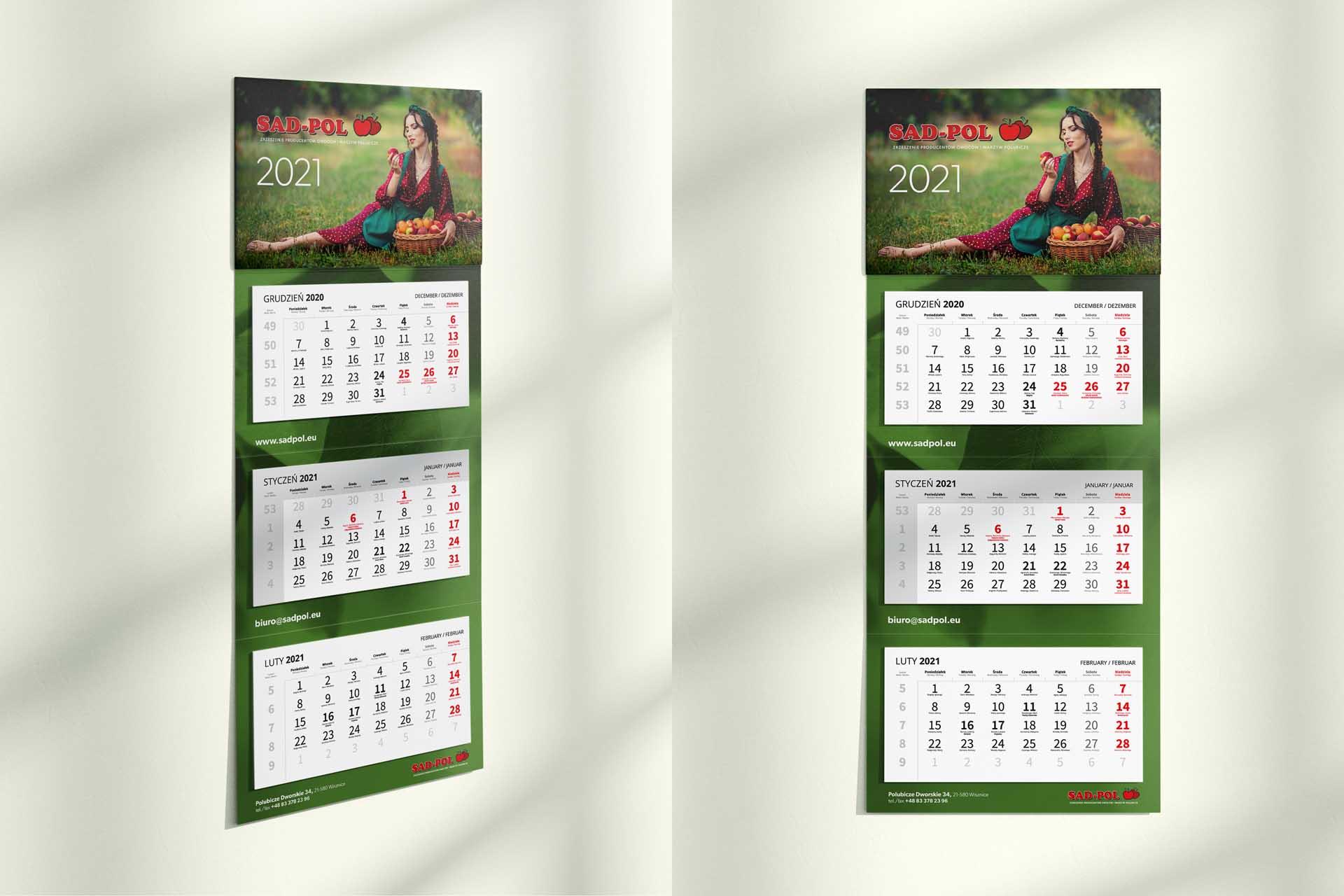 Sad-pol- Kalendarz 3-dzielny 2021