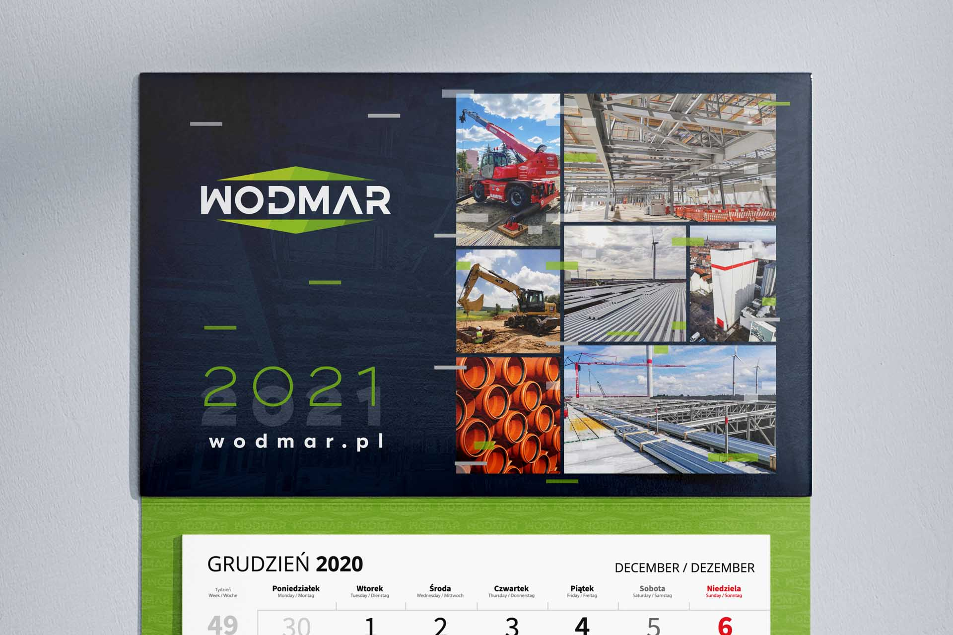 Wodmar - Kalendarz 3-dzielny 2021